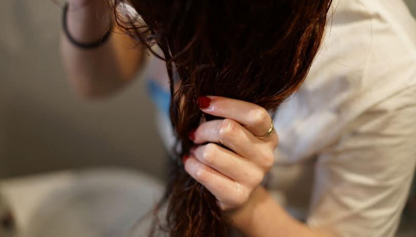 image of washing hair